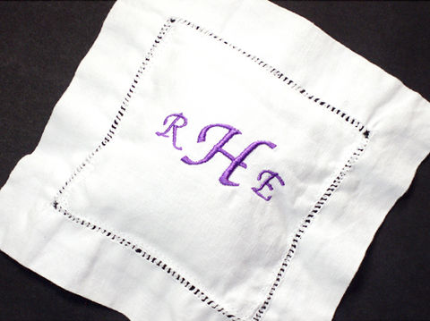 Monogrammed,Lavender,Sachet,,Custom,Embroidered,on,White,Linen,lavender, sachet, custom, embroidered, potpourri, linen, white, hemstitched, gift