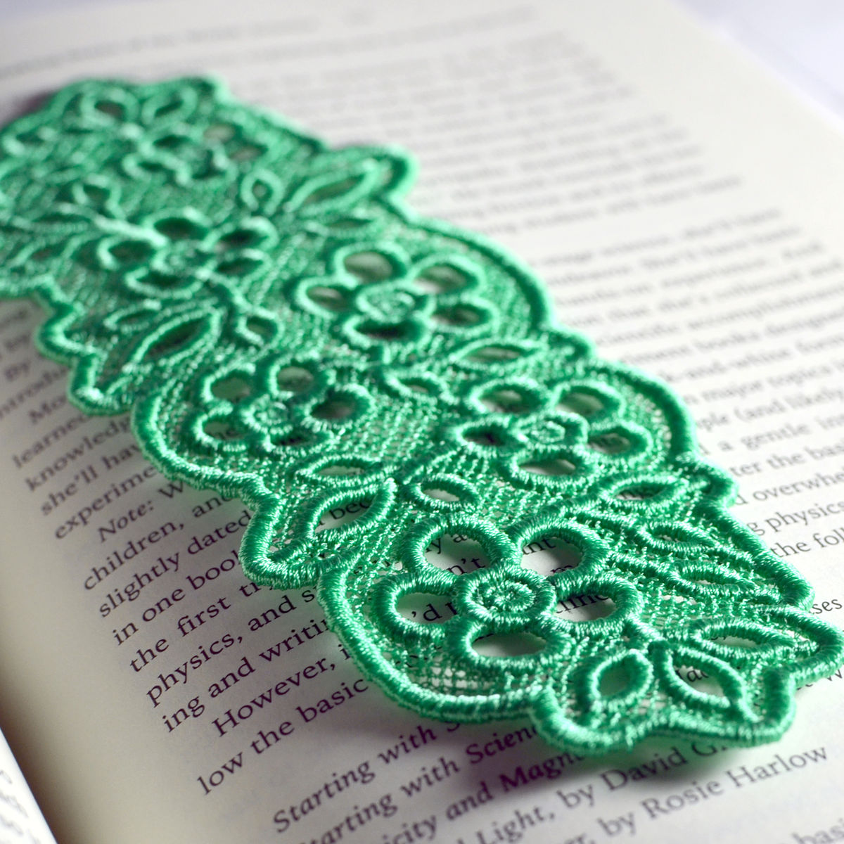 Floral Lace Bookmark - product images  of