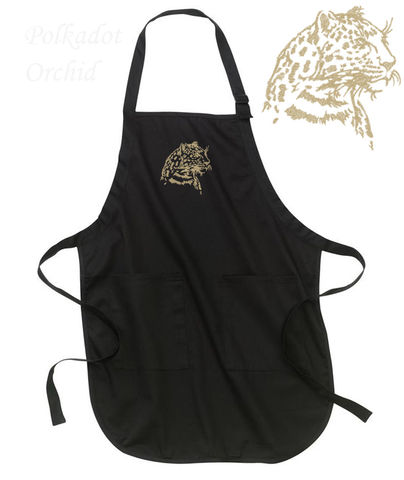 Embroidered,Wildcat,Apron,-,Bobcat,,Lion,,Leopard,,or,Tiger,embroidered, apron, wildcat, bobcat, lion, tiger, leopard