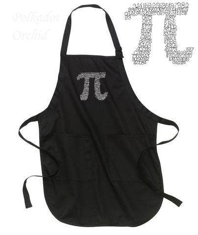 Apron,Embroidered,with,Digits,of,Pi,pi, apron, embroidered, custom, personalize, nerd, kitchen