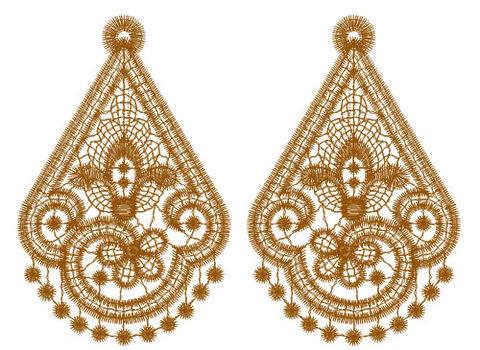 Traditional,Lace,Earrings,using,One,Custom,Color,lace, earrings, custom, favorite color, dangle, fashion, accessory, jewelry