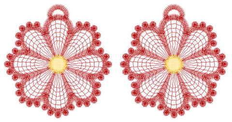 Floral,Lace,Earrings,Using,Two,Custom,Colors,lace, earrings, custom, favorite color, dangle, fashion, accessory, jewelry