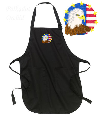 Patriotic,Eagle,Apron,embroidered, apron, eagle, patriotic