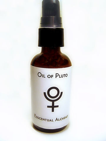 Oil,of,Pluto,body oil, bath and body, beauty, natural, pluto, astrology, vanilla, white sage, tangerine, mandarin, meditation aid, oil for meditation, esscentual alchemy, absinthe dragonfly