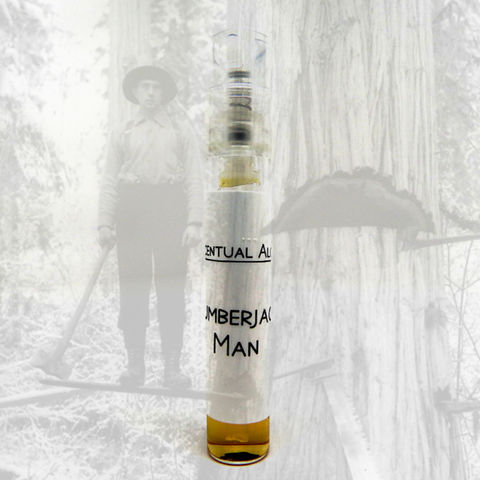 Lumberjack,Man,natural,cologne,mini,spray,natural perfume, botanical perfume, esscentual alchemy, indie fragrance, artisan perfume, bath and body, beauty, eau de cologne, cologne spray, cologne sample, mens scent, masculine fragrance, cologne for men, sample spray, tobacco, labdanum, agarwood, ou