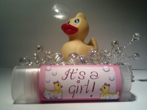 Personalized,Girl,Baby,Shower,Lip,Balm,custom, personalized, baby shower, gift