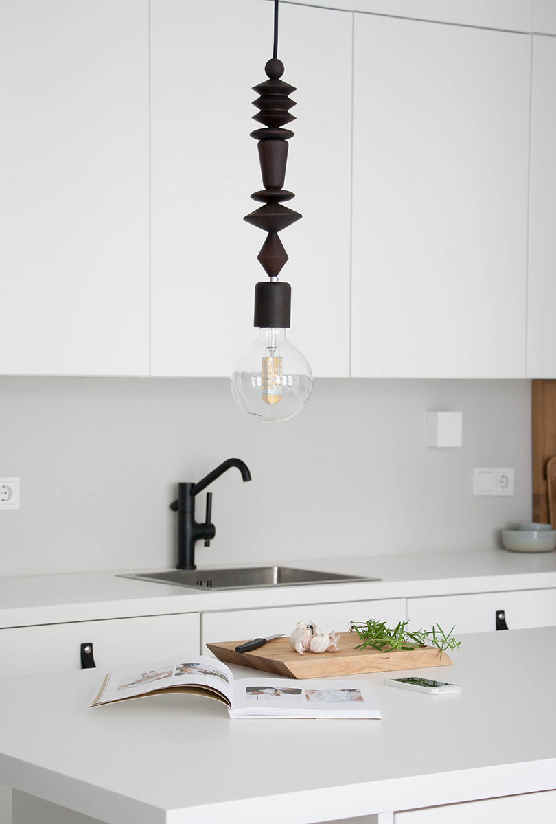 "Bright Beads ""Aztek"" pendant light - Smoked Ash - product images  of"