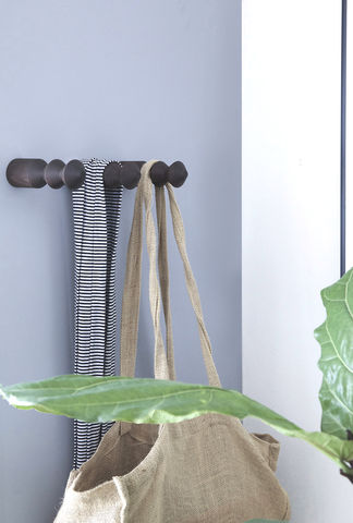 'Pleated',Wall,hook,-,Smoked,Ash,wall hook, hanger, hook rack, wood, timber, traditional, smoked ash, pleated, marz designs, hanging, coat hook, hat hook, hat stand, design, australian. interior design, homeowner
