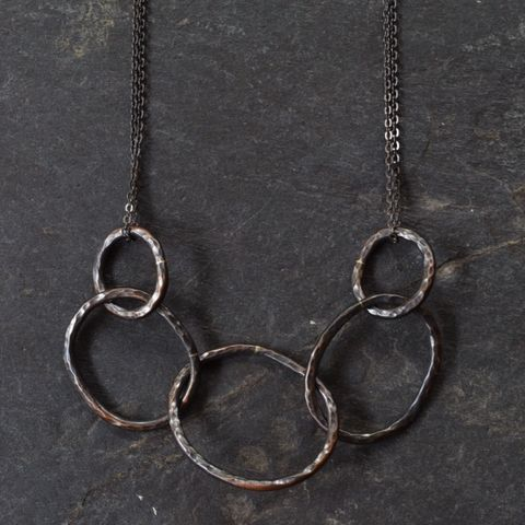 Oxidized,Chain,Link,Necklace