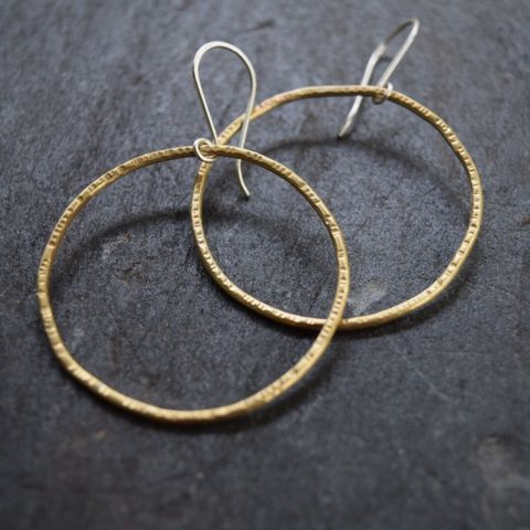 Large,Circle,Earrings