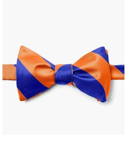 Orange,&,Blue,Stripe,Self,Tie,Bow,UF Bow Tie