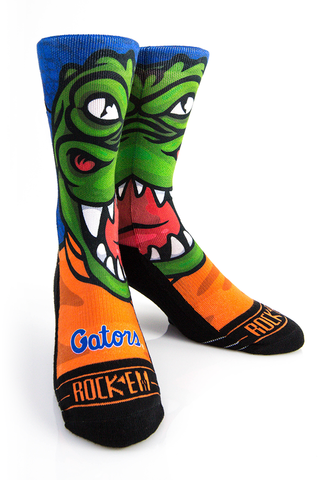 Florida,Gators,-,Albert,Mascot,Albert Mascot Socks