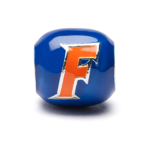 Florida,Gators,Blue,and,Orange,Block,Bead,Charm,Florida Gators Blue and Orange Block Bead Charm Jewelry