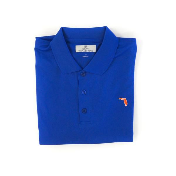 Florida Gainesville Clubhouse Performance Polo Blue - product image