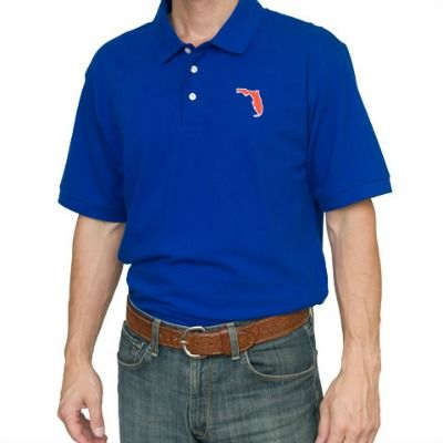 Gainesville,Gameday,Polo,Blue,Orange and Blue Mens Polo, Gators Menswear