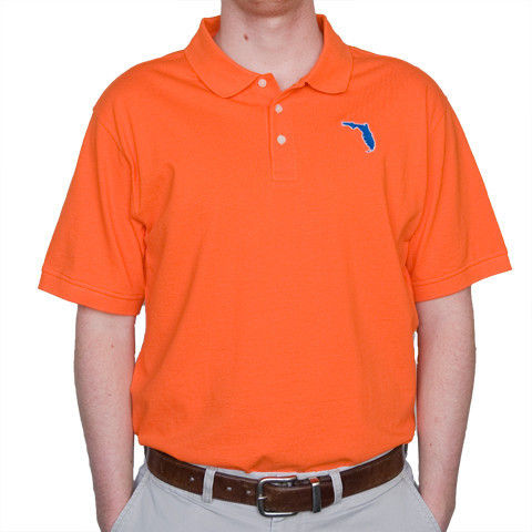 Gainesville,Gameday,Polo,Orange,Orange and Blue Mens Polo, Gators Menswear