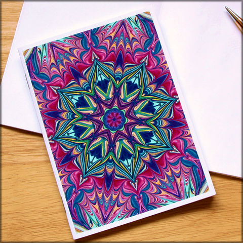 marbled,kaleidoscope,notebook,no.,1,small notebook,mini journal,marbled paper,eco friendly