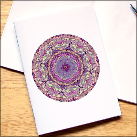 marbled,mandala,notebook,no.,7,small notebook,mini journal,marbled paper,eco friendly