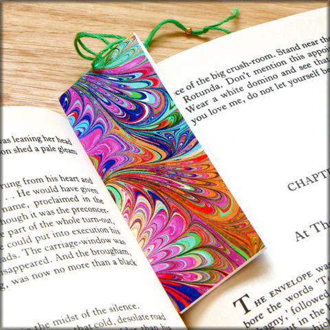marbled,paper,bookmark,book,-,series,1,Bookmark,marbled_paper,recycled,miniature_notebook,blank_book