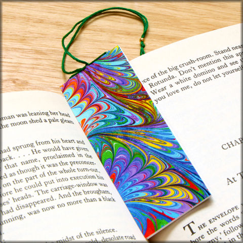 marbled,paper,bookmark,book,-,series,5,Bookmark,marbled_paper,recycled,miniature_notebook,blank_book