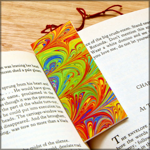 marbled,paper,bookmark,book,-,series,6,Bookmark,marbled_paper,recycled,miniature_notebook,blank_book