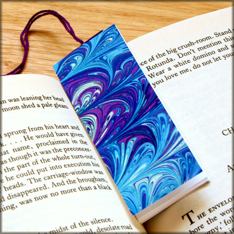 marbled,paper,bookmark,book,-,series,10,Bookmark,marbled_paper,recycled,miniature_notebook,blank_book