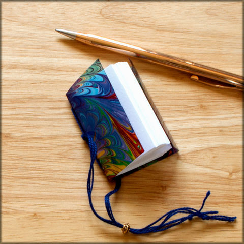 secret,keeper,journal,no.,105,miniature journal, diary, rainbow journal,marbled paper