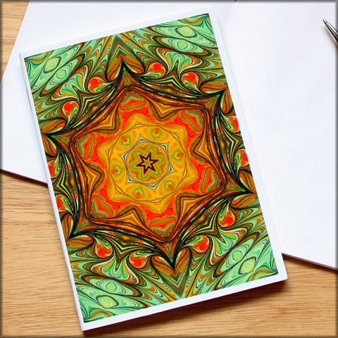 marbled,kaleidoscope,notebook,no.,5,small notebook,mini journal,marbled paper,eco friendly