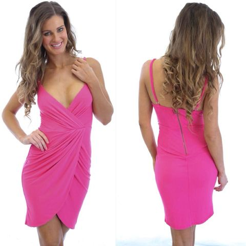 TROPICAL,SPLICE,DRESS,-,FUCHSIA
