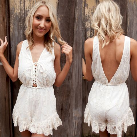 COCO,LACE,PLAYSUIT