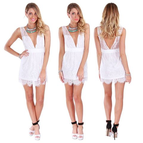 SURRENDER,NOW,LACE,DRESS,-,WHITE