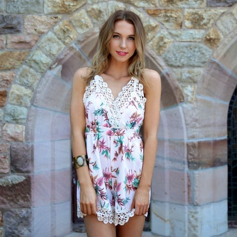 TROPICAL,PARADISE,PLAYSUIT