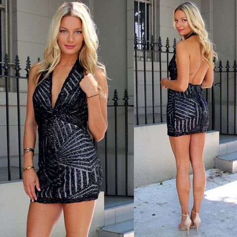 BOMBSHELL,SEQUIN,DRESS,-,BLACK
