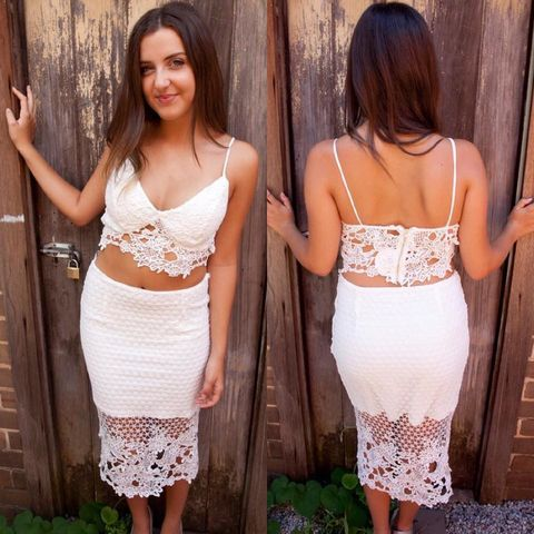 STEPHANIE,LACE,TWO,PIECE,SET