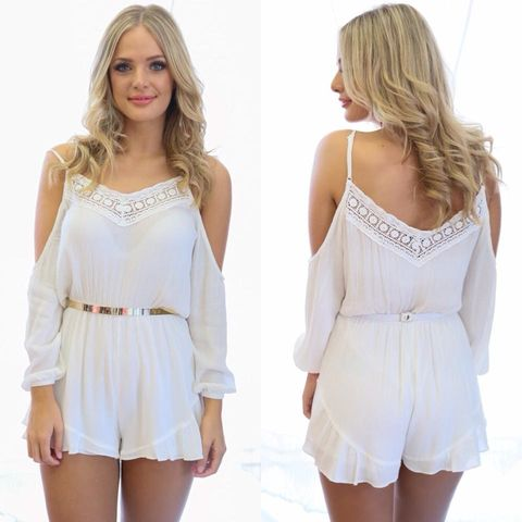 BYRON,BAY,PLAYSUIT,-,WHITE