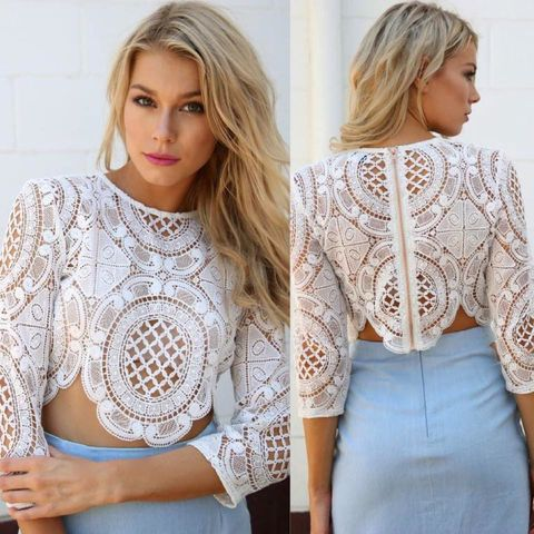 BALMAIN,CROTCHET,TOP