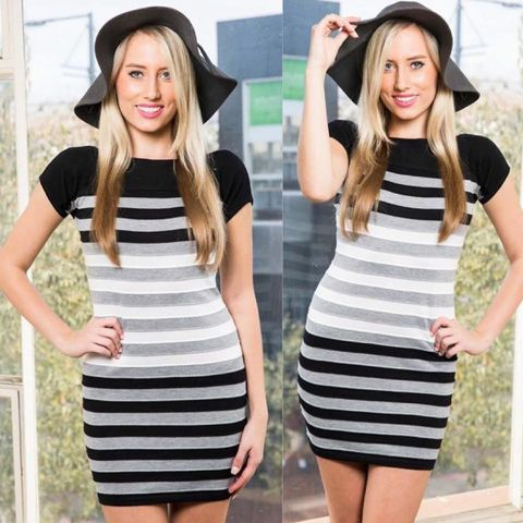 CHARLOTTE,STRIPED,DRESS