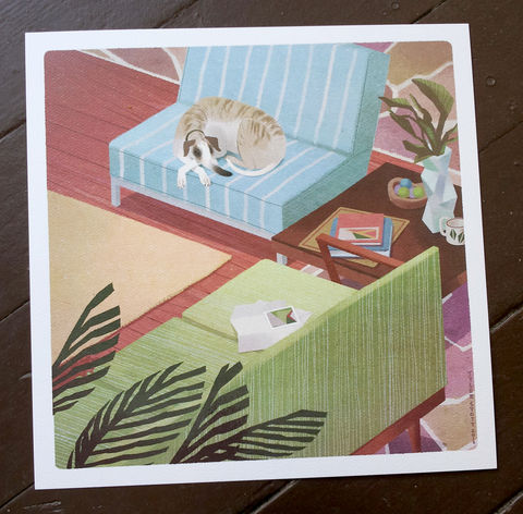 Mid-century,Greyhound,dog, print, midcentury, greyhound