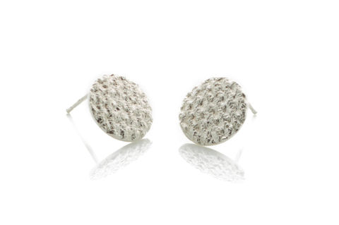 Silver,Crochet,Studs,Stud earrings, handmade earrings, silver earrings, oxidised silver earrings, textured earrings, handmade jewellery, women's jewellery