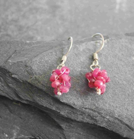 Ruby,Pearl,earrings,sterling silver, earrings, cirtine,ruby,rubies, red, special occasion, green, peridot yellow, casual, visual, birthday,villain, accessories