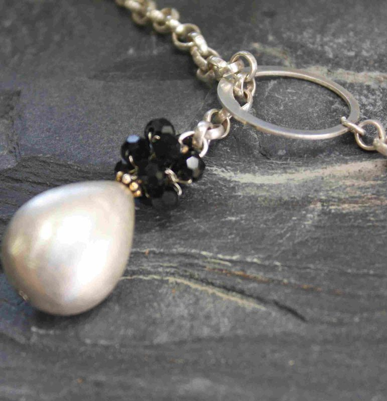 Pearl lariat necklace - product images  of