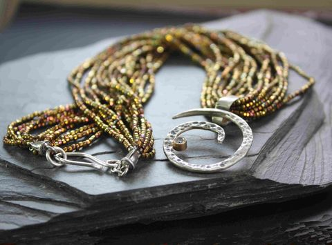 Stellar,necklace,villain, accessories, mixed metal, sterling, gold, 14k, glass, godlen, birthday, special event
