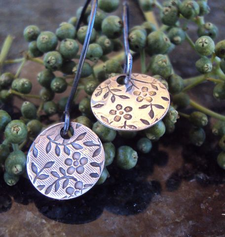 Daisy,earrings,Sterling silver earrings, handcrafted silver jewelry, handmade silver jewelry