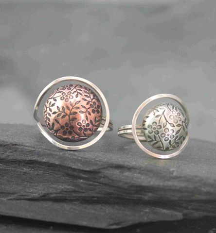 Daisy,ring,Bohemian,floral, daisy, ring, copper, funky, hand made  metalsmithed, villain accessories