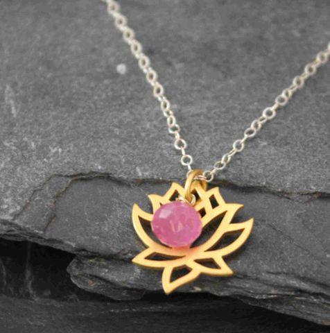 New,beginnings,Lotus,pink, yoga, yogini, blessings, hand made, jewelry