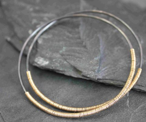 Dark,moon,bangle,Gold, moon, entangled, mixed metals, circles, bracelet, bangle,villain accessories, Silver jewelry, silversmithing, sterling jewelry,sterling silver, handmade