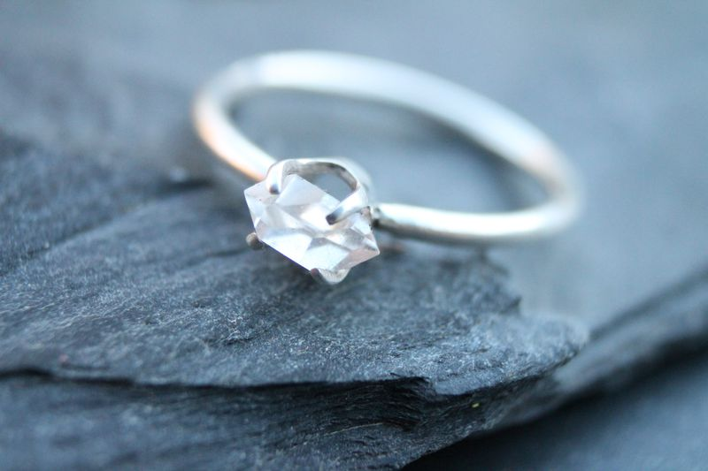 Herkimer diamond solitaire - product images  of