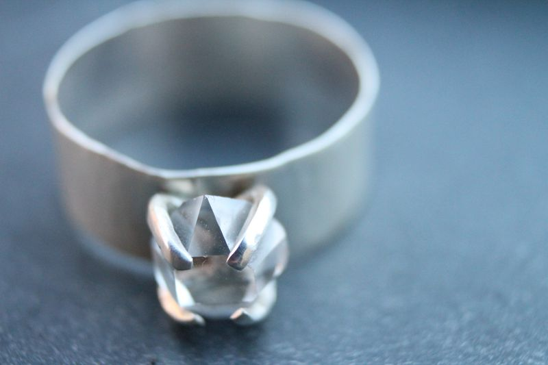 Herkimer diamond band - product images  of