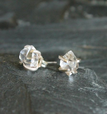 Herkimer,diamond,earrings, new york, metalsmithed, villain, accessories herkimer, 14k gold, gold,sterling, wedding, holiday, gifts
