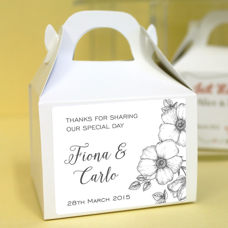 Personalised Wedding Favour Boxes Monochrome Uber Kids Design